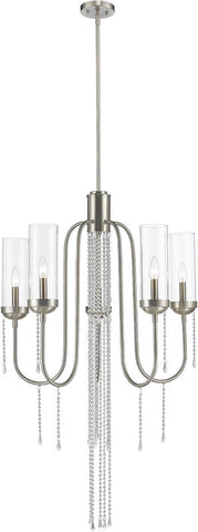 Z-Lite 433-5BN 5 Light Chandelier Siena Collection Clear Finish - ZLiteStore