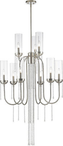 Z-Lite 433-9BN 9 Light Chandelier Siena Collection Clear Finish - ZLiteStore