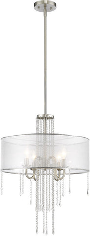 Z-Lite 433P-BN 4 Light Pendant Siena Collection Semi Clear Finish - ZLiteStore