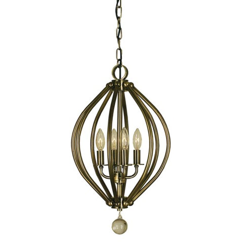 Framburg 4344-BN 4-Light Brushed Nickel Chandelier
