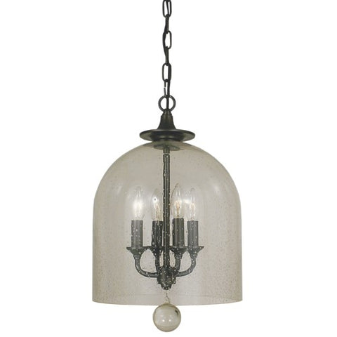 Framburg 4355-PN 4-Light Polished Nickel Hannover Pendant