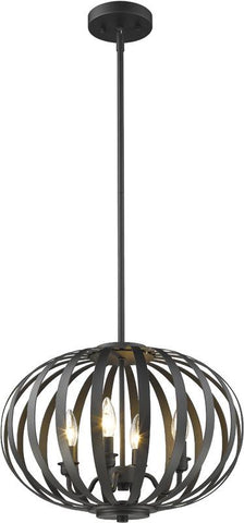 Z-Lite 438-16BRZ 4 Light Pendant Moundou Collection - ZLiteStore