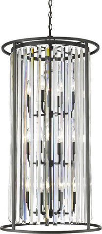 Z-Lite 439-12BRZ 12 Light Chandelier Monarch Collection Clear Finish - ZLiteStore