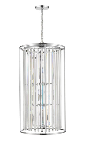 Z-Lite 439-12CH Monarch Collection 12 Light Chandelier Chrome Finish