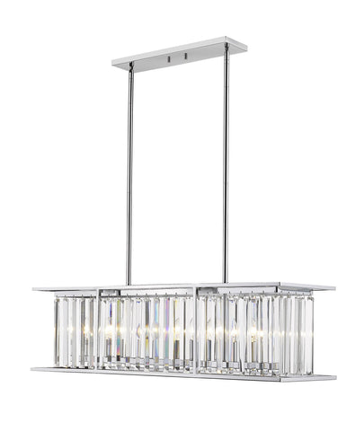 Z-Lite 439-40CH Monarch Collection 6 Light Chandelier Chrome Finish