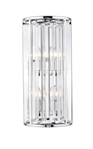 Z-Lite 439-4S-CH Monarch Collection 4 Light Wall Sconce Chrome Finish
