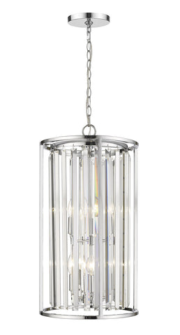 Z-Lite 439-6CH Monarch Collection 6 Light Chandelier Chrome Finish