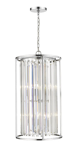 Z-Lite 439-8CH Monarch Collection 8 Light Chandelier Chrome Finish