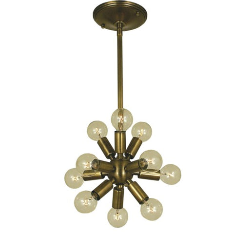 Framburg 4391-AB 11-Light Antique Brass Simone Chandelier