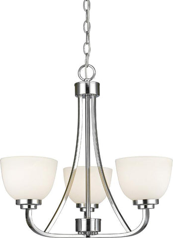 Z-Lite 443-3-CH 3 Light Chandelier Ashton Collection Matte Opal Finish - ZLiteStore