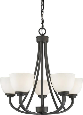 Z-Lite 443-5-BRZ 5 Light Chandelier Ashton Collection Matte Opal Finish - ZLiteStore
