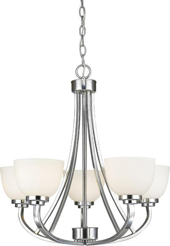 Z-Lite 443-5-CH 5 Light Chandelier Ashton Collection Matte Opal Finish - ZLiteStore