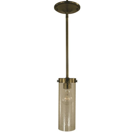 Framburg 4432-BN/C 1-Light Brushed Nickel/Clear Glass Hammersmith Pendant