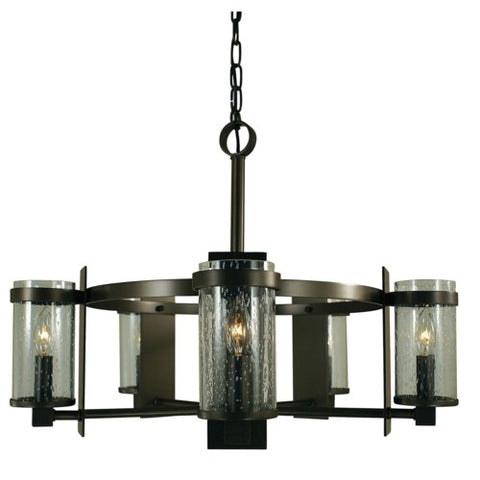 Framburg 4435-MB/C 5-Light Mahogany Bronze/Clear Glass Hammersmith Chandelier