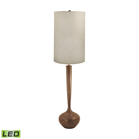 Lamp Works LAM-444-LED Wood Collection Woodtone Finish Floor Lamp