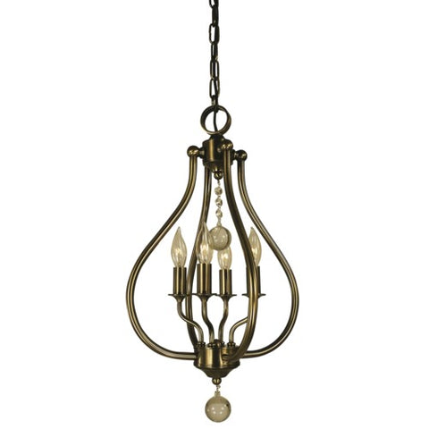Framburg 4444-BN 4-LIGHT BRUSHED NICKEL DEWDROP PENDANT