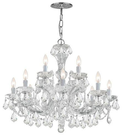 Crystorama 4479-CH-CL-I Maria Theresa 12 Light Clear Italian Crystal Chandelier - PeazzLighting