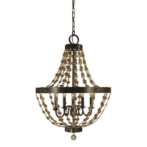 Framburg 4485-MB 5-Light Mahogany Bronze Naomi Chandelier