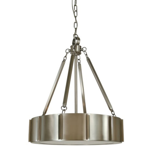 "Framburg 4590-BN/PN 4-Light 16"" Brushed Nickel/Polished Nickel Pantheon Pendant"