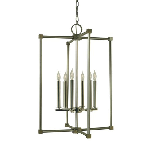 Framburg 4606-MB/AB 6-Light Mahogany Bronze/Antique Brass Lexington Chandelier