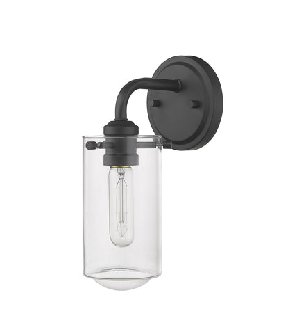 Z-Lite 471-1S-MB Delaney Collection 1 Light Wall Sconce Matte Black Finish