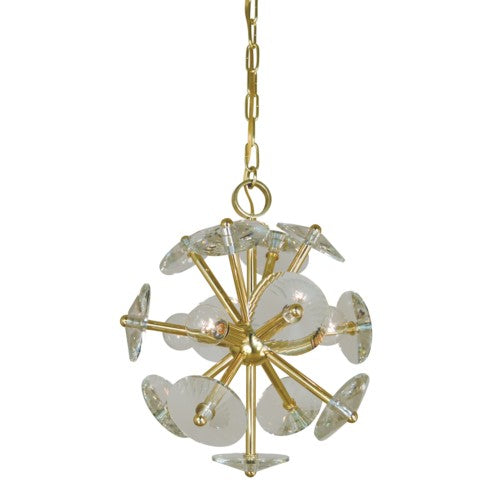 Framburg 4814-pn 4-light Polished Nickel Apogee Mini Chandelier