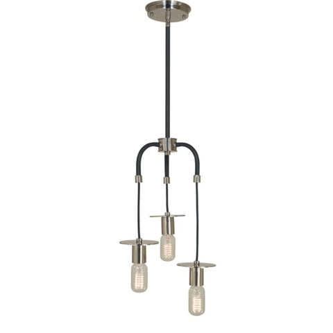 Framburg 4893-AB/MBLACK 3-Light Antique Brass/Matte Black Juliette Pendant