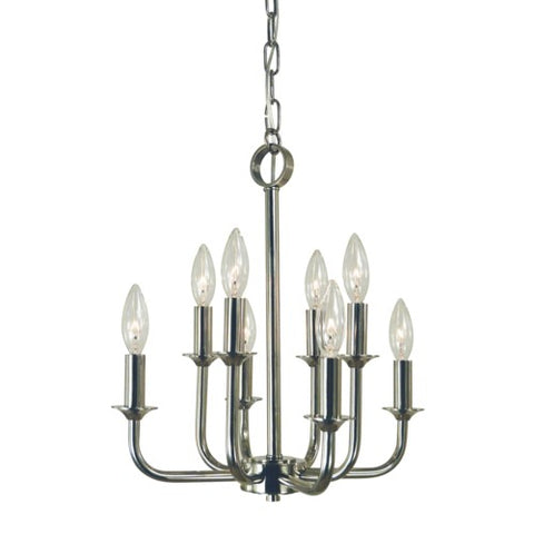 Framburg 4986-PN 8-Light Polished Nickel Boulevard Chandelier