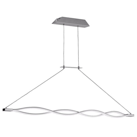 Dainolite LIS-47HP-SV 36W Wave, LED Horizontal Pendant,SV/PC