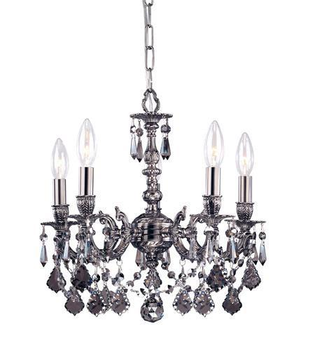 Crystorama 5504-pw-sss Gramercy 4 Light Silver Crystal Pe...