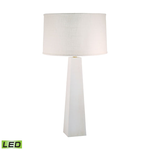 Lamp Works LAM-555W-LED Grand Pyramid Collection White Wash Finish Table Lamp