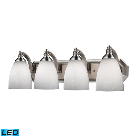 ELK Lighting 570-4N-WH-LED Bath And Spa Collection Satin Nickel Finish - PeazzLighting