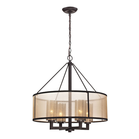 ELK Lighting 57027/4 Diffusion Collection Oil Rubbed Bronze Finish - PeazzLighting