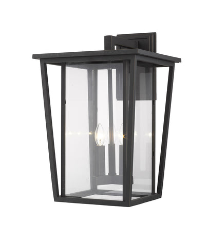 Z-Lite 571XL-ORB Seoul Collection 3 Light Outdoor Wall Sconce Oil Rubbed Bronze Finish