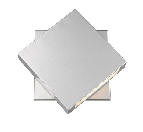 Z-Lite 573B-SL-LED Quadrate Collection 1 Light Outdoor Wall Sconce Silver Finish
