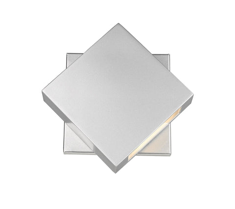 Z-Lite 573S-SL-LED Quadrate Collection 1 Light Outdoor Wall Sconce Silver Finish