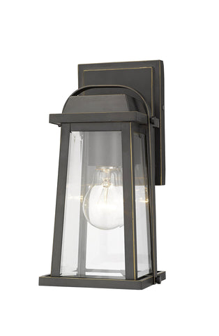 Z-Lite 574S-ORB Millworks Collection 1 Light Outdoor Wall Sconce Oil Rubbed Bronze Finish