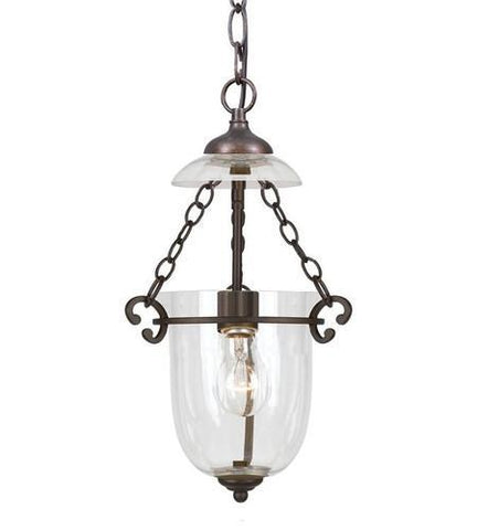 Crystorama 5761-BU-CL 1 Light Bronze Umber Glass Pendant I - PeazzLighting