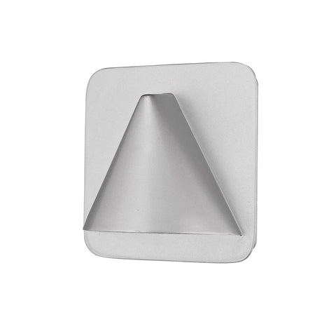 Z-Lite 578SL-LED Obelisk Collection 1 Light Outdoor Wall Sconce Silver Finish