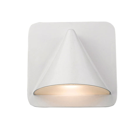 Z-Lite 578WH-LED Obelisk Collection 1 Light Outdoor Wall Sconce White Finish