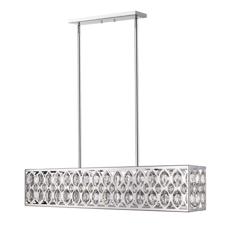 Z-Lite 6010-42CH Dealey Collection 7 Light Chandelier Chrome Finish