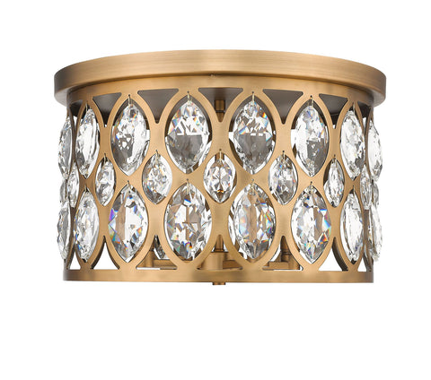 Z-Lite 6010F15HB Dealey Collection 4 Light Chandelier Heirloom Brass Finish