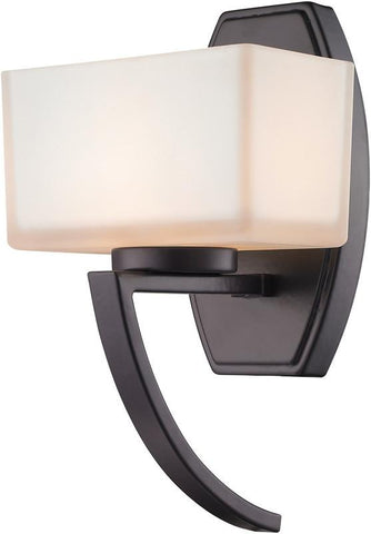 Z-Lite 614-1SBRZ 1 Light Wall Sconce Cardine Collection Matte Opal Finish - ZLiteStore