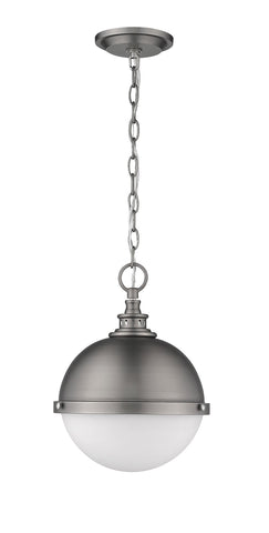 Z-Lite 619MP-AN Peyton Collection 2 Light Mini Pendant Antique Nickel Finish