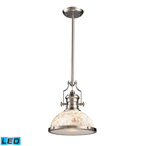 ELK Lighting 66423-1-LED Chadwick Collection Satin Nickel Finish - PeazzLighting