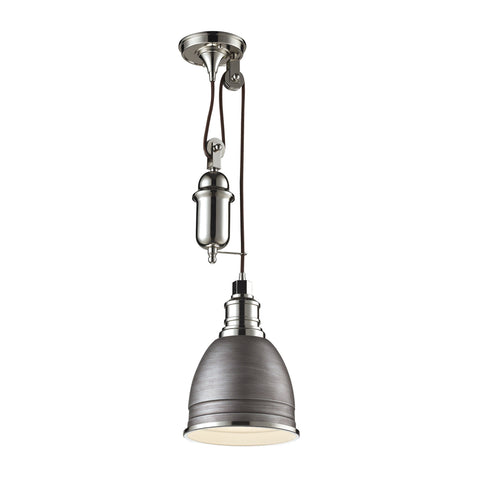 ELK Lighting 66881/1 Carolton Collection Weathered Zinc,Polished Nickel Finish - PeazzLighting