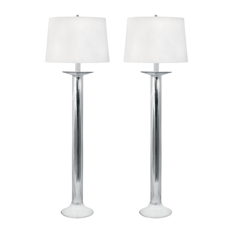 Lamp Works LAM-707/S2 Mercury Glass Collection Mercury Finish Table Lamp