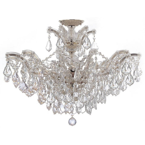 Crystorama 4439-CH-CL-S_CEILING Maria Theresa 6 Light Elements Crystal Chrome Semi-Flush II