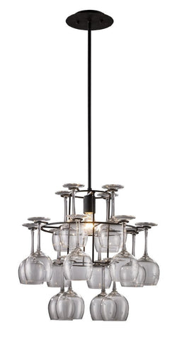 ELK Lighting Lighting 14040-1 Vintage One Light Chandelier In Dark Rust With Glass - PeazzLighting - 1