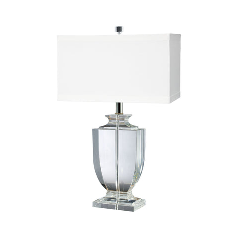 Lamp Works LAM-722 Crystal Collection Clear Finish Table Lamp